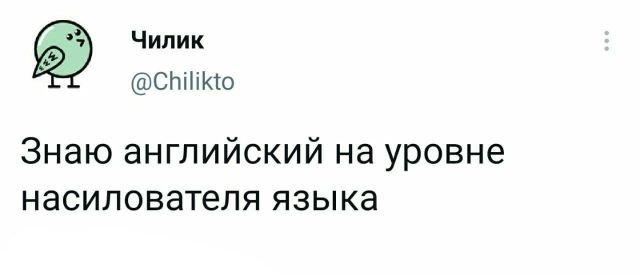 твит про язык