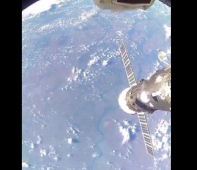 Русский космонавт показал реку Волгу из космоса