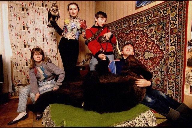 Обычный домашний питомец у одной московской семьи, 1993 год.