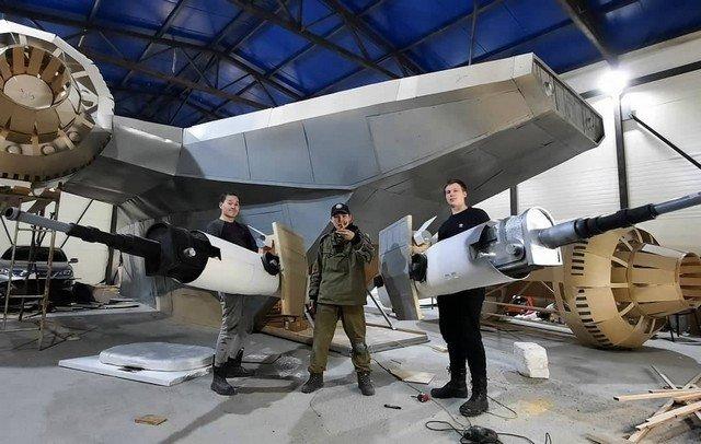 """В Якутске построили космический корабль из сериала «Мандалорец», снятый по мотивам """"Звездных войн"""""""