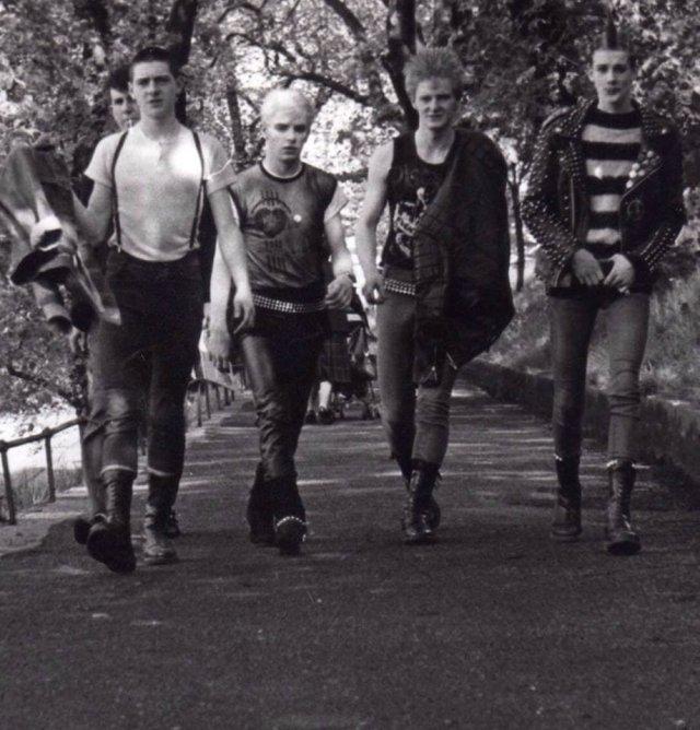 Панки, Эдинбург, Шотландия, 1983 год.