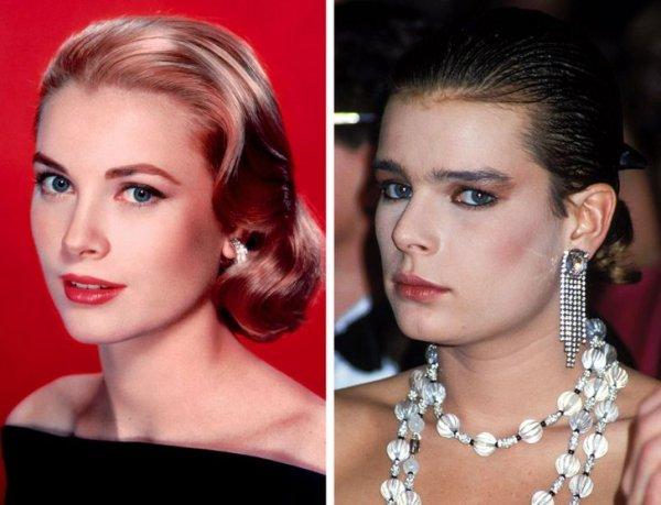 Грейс Келли и Стефания, принцесса Монако, в 20 лет