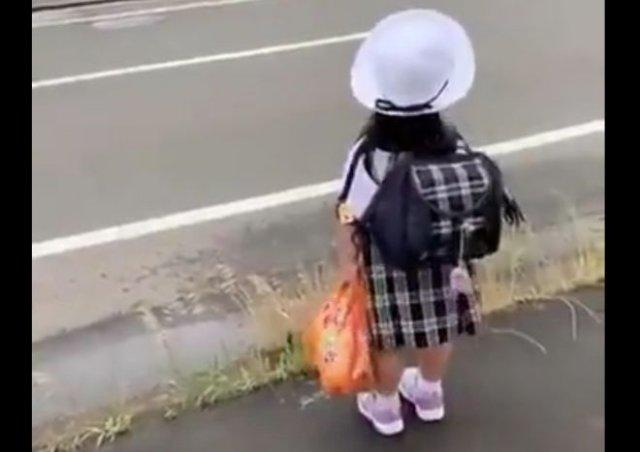 Как выглядит обычный школьный автобус в Японии