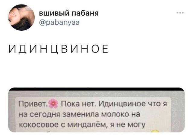 твит про идинцвиное