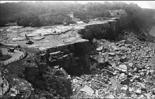 Ниагарский водопад без воды, 1969 год.