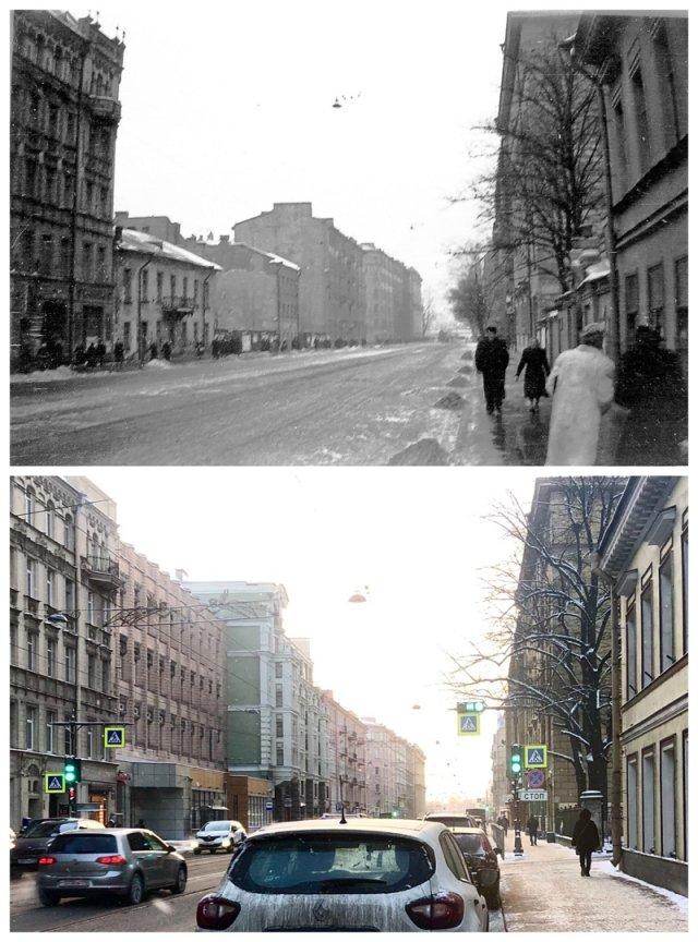 Улица Куйбышева.1956 и 2021 год.