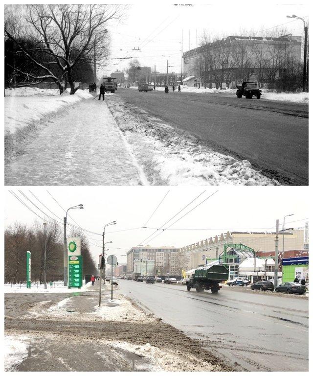 Малый проспект В.О.1981 и 2021 год.