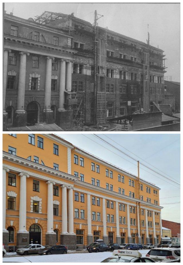 Реконструкция здания Кораблестроительного института (ул.Лоцманская, 3)1936 и 2021