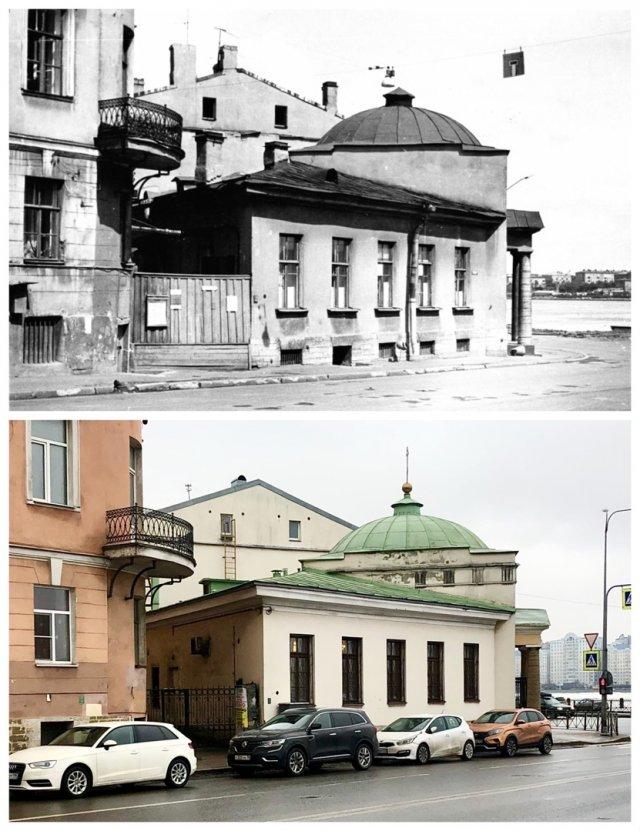Часовня Валаамского монастыря на проспекте Бакунина.1974 и 2021 год.