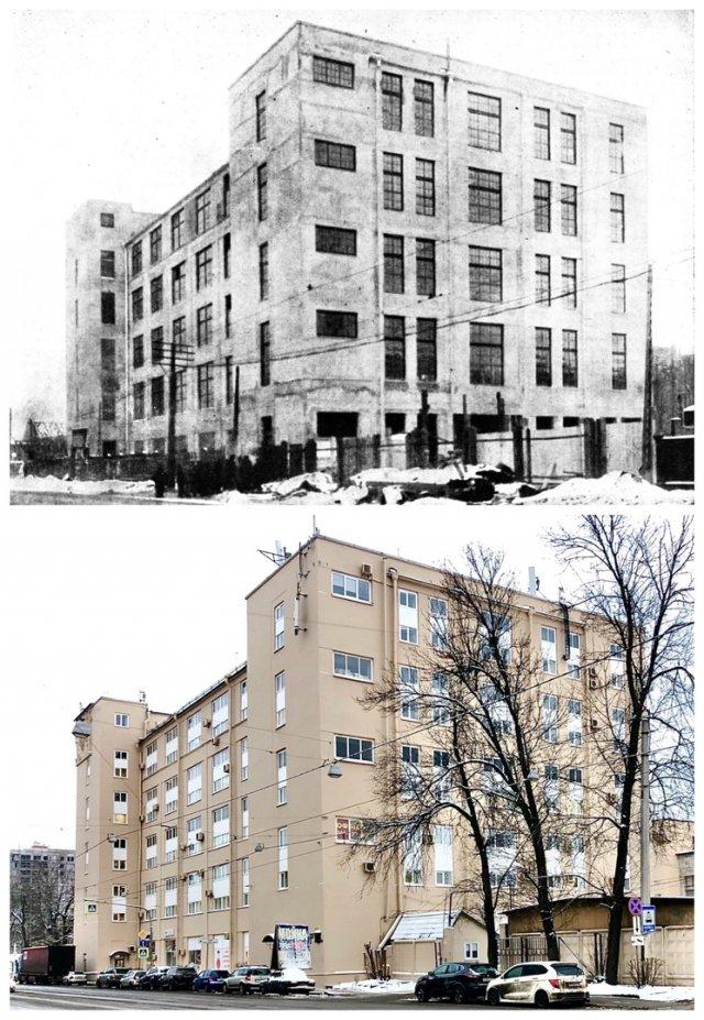 Новая катушечная Фабрика за Невской заставой / БЦ 76 на проспекте Обуховской Обороны.1930 и 2021 год.
