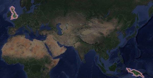 Реальный размер острова Новая Гвинея