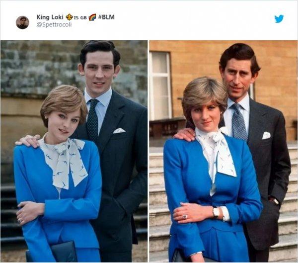 Эмма Коррин и Джош О'Коннор в ролях принцессы Дианы и принца Чарльза в сериале «Корона» (2016-…)