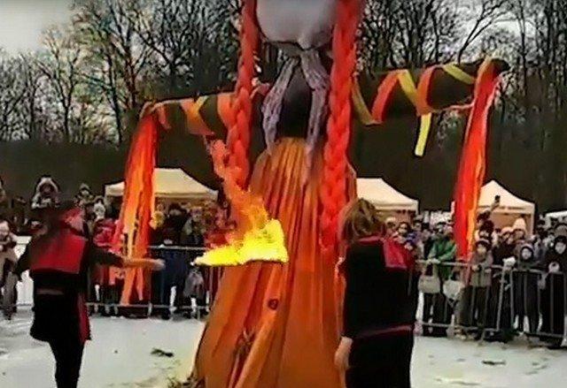 """""""Техника безопасности — наше все"""": Масленица в Кингисеппе чуть не закончилась пожаром"""