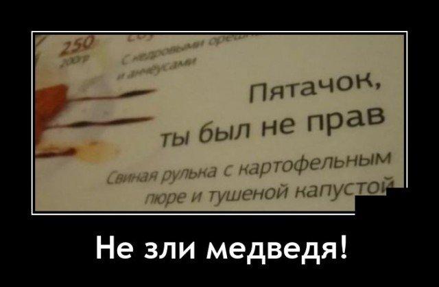 Демотиватор про Пятачка