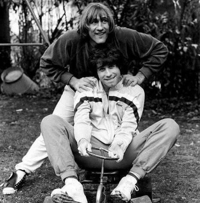 Джон Траволта и Жерар Депардьё, 1981 год.