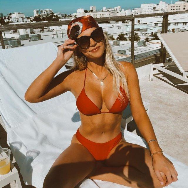 Мэдисон Лекрой - любовница Алекса Родригеса, с которой он изменил Дженнифер Лопес в красном купальнике
