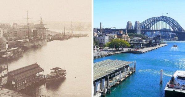 Сидней, Австралия, 1890 и 2019 год