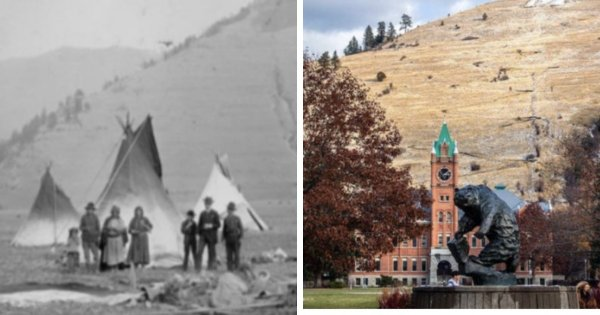 Университет штата Монтана, США, и то, что было на его месте около 150 лет назад
