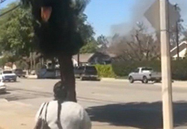 Эпичный взрыв складе фейерверков в городке Онтарио