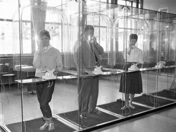Прозрачные телефонные будки, Германия, 1959 год
