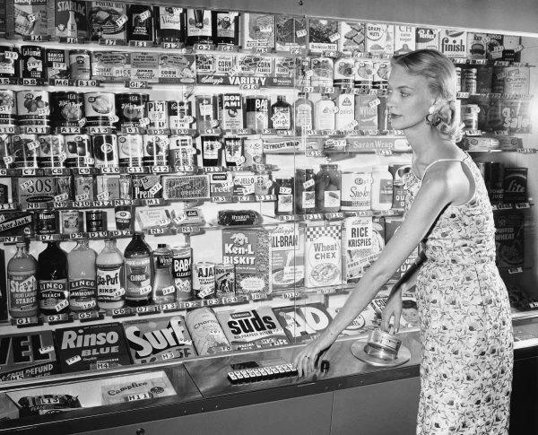 Супермаркет-автомат, Нью-Йорк, 1956 год
