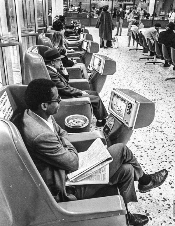 «Телекресла» на вокзале в Лос-Анджелесе в 1969 году.