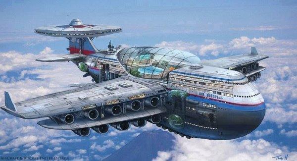 Как в 1970-х годах представляли авиалайнеры будущего