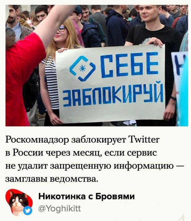 Как пользователи Сети отреагировали на то, что РКН собирается заблокировать Twitter