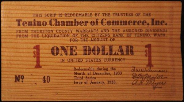 Один деревянный доллар