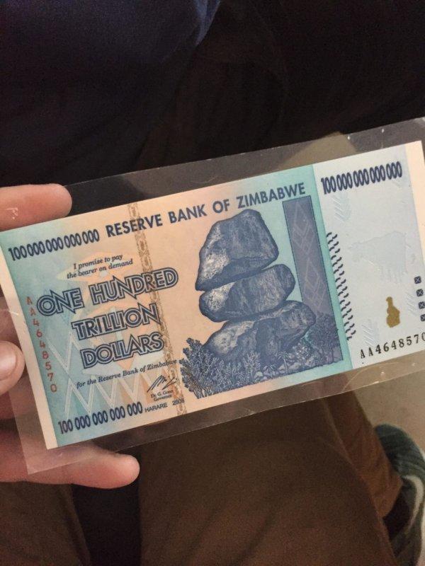 Сто триллионов долларов Зимбабве