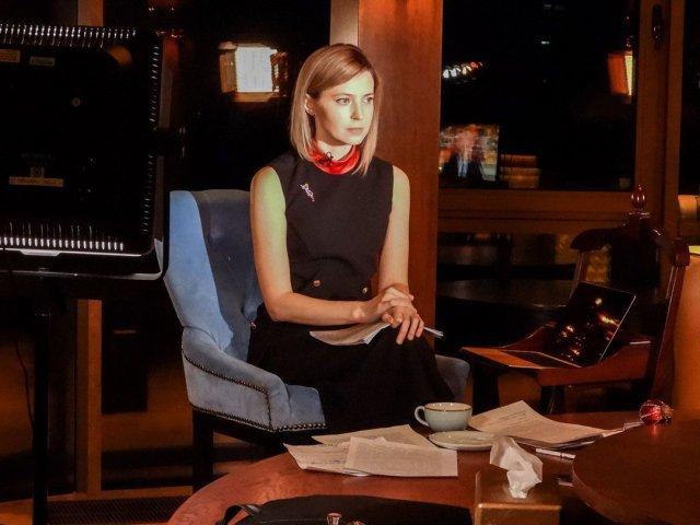 Политик Наталья Поклонская в черном платье
