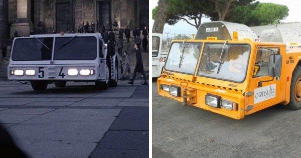 В качестве футуристических полицейских машин используются тракторы для буксировки Fresia SP 200