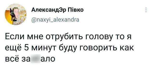твит про голову