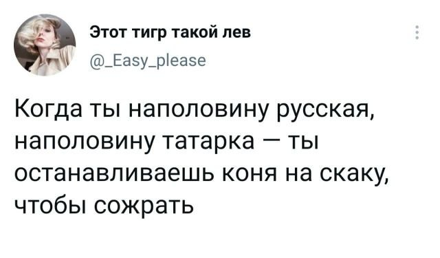 твит про татарку