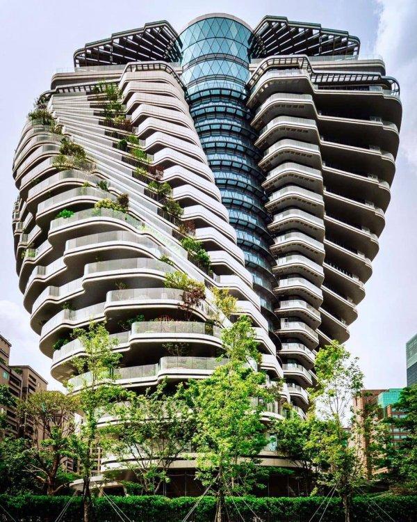 Небоскрёб Tao Zhu Yin Yuan или эко-башня «Зелёной ДНК», Тайбэй, Тайвань