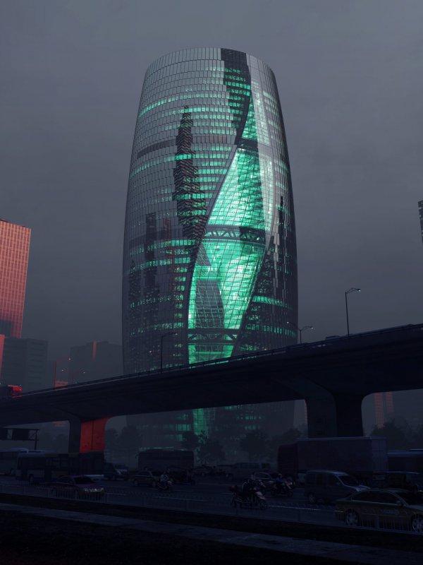 Башня Leeza SOHO, Пекин, Китай. Самый высокий в мире атриум