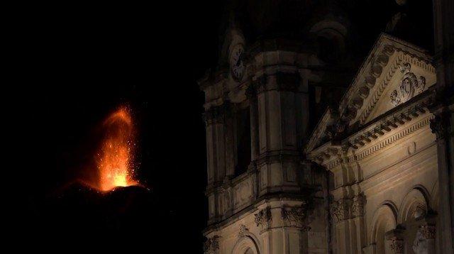Послушайте, как извергается вулкан Этна