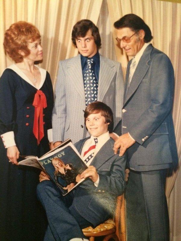 Мой отец (с журналом), мой дедушка, бабушка и дядя