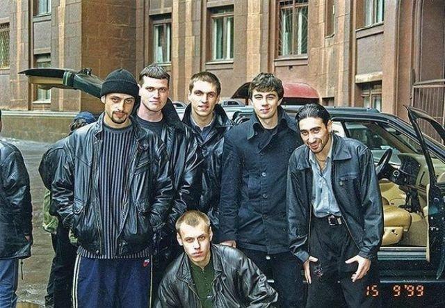 """Фотография со съёмок фильма """"Брат 2"""", 1999 год"""
