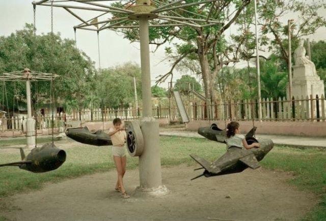 Каpyceли с ручным приводом, 1990–е годы, Куба.