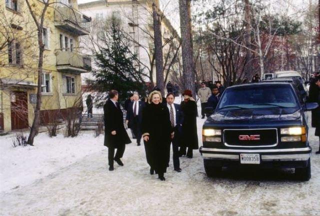 Хиллари Клинтон в Новосибирске.16 ноября 1997 год.