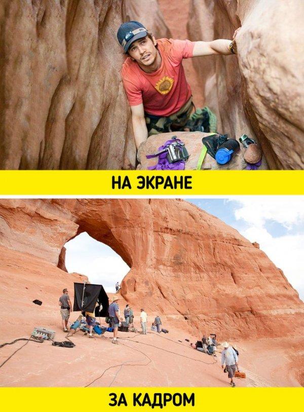 Большинство сцен «127 часов» снимали прямо в настоящем каньоне