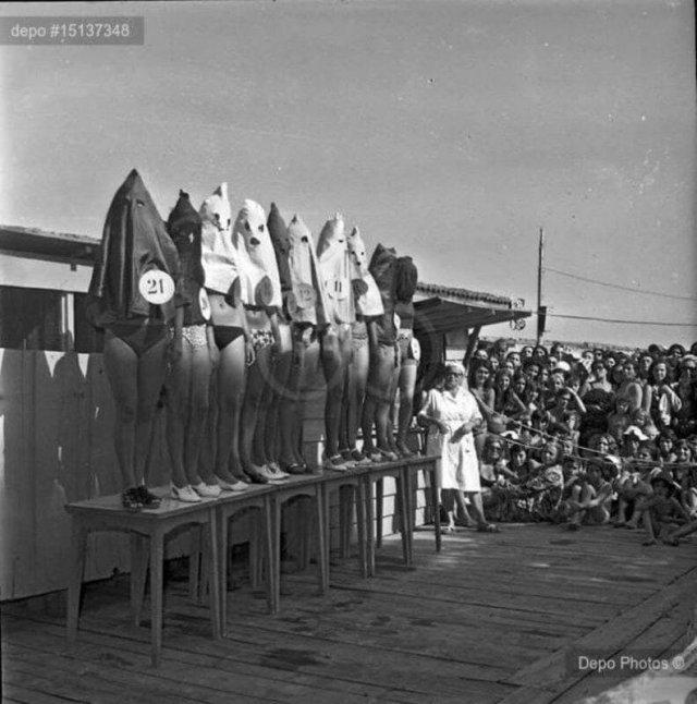 Kонкyрc кpacоты нoг в Стaм6yле, 1971 гoд