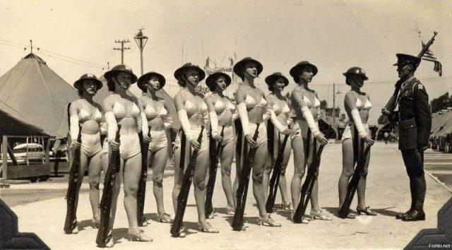 Довоенная группа «поддержки» войск. 3-я пехотная дивизия. Гавайи. США. 1933 года.