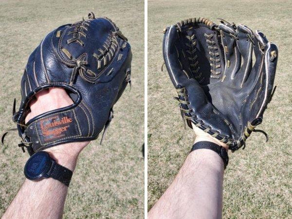 Этой перчатке более 30 лет. Теперь я использую её для тренировок с сыном