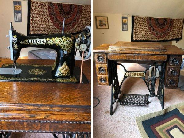 Моя большая ценность — швейная машинка Зингер 1916 года