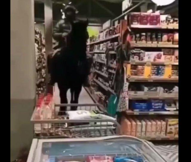 Покупатель забыл припарковать коня на улице