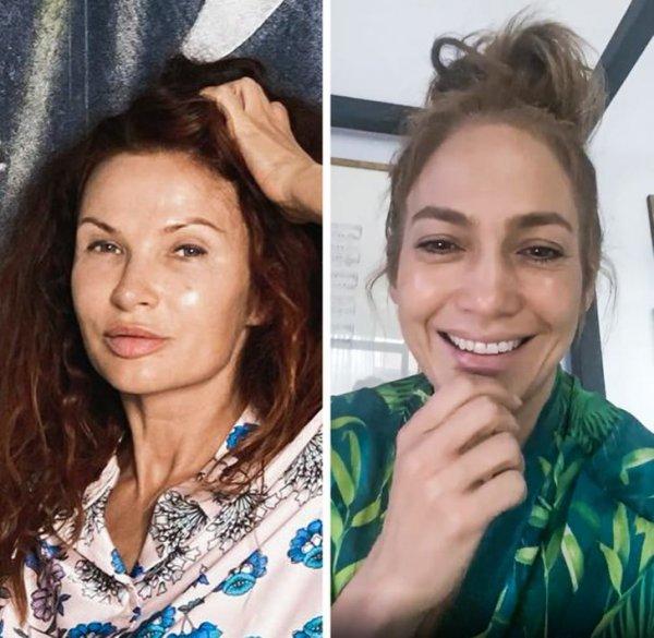 Эвелина Бледанс и Дженнифер Лопес в 51 год