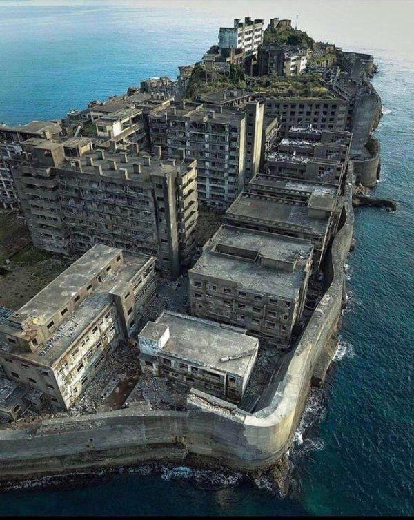 Заброшенный морской угледобывающий комплекс, Остров Хашима