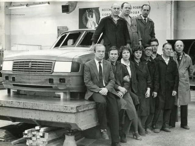 Макет кузова ГАЗ-31029 на Горьковском заводе, 1990.